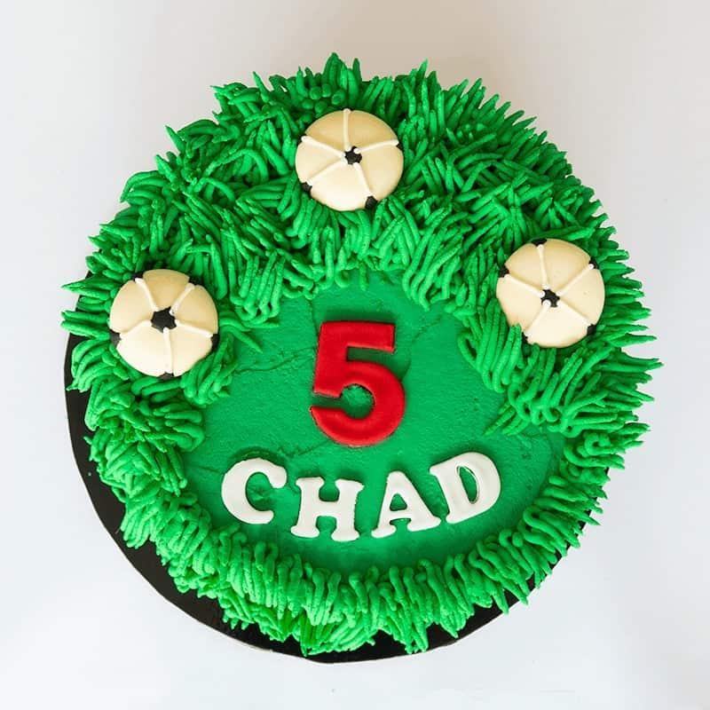 Soccer Fan - Quick-Cake - handmade - bakery - celebration - fresh - custom - unique - Niagara Park - NSW - Sydney - CakeAndPlate.com.au © 2020